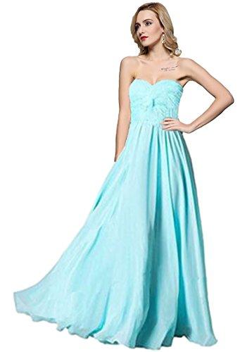 Meier Women's Strapless Sweetheart Pleated Evening Prom Dress Sky Blue-16