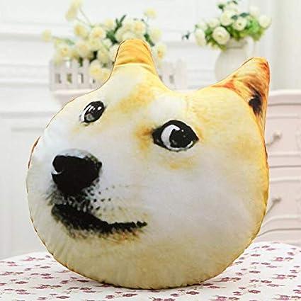 Amazon.com: Cojín de felpa con estampado 3D de perro marido ...