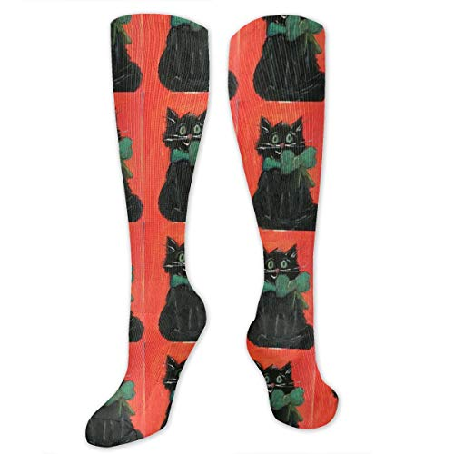 Black Cat Halloween Kitty Compression Socks for Women and Men - Best Medical,for Running, Athletic, Varicose Veins, Travel. for $<!--$8.80-->