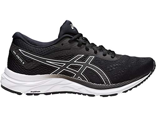 ASICS Women's Gel-Excite 6 Running Shoes, 10W, Black/White