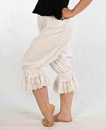 Vintage High Waisted Trousers, Sailor Pants, Jeans Victorian  Steampunk Cotton Bloomers $40.00 AT vintagedancer.com
