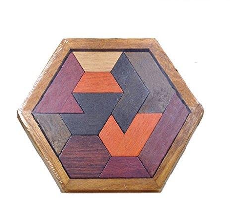 [해외]【 무상 표 품 】 멀티 나무 탬 그램 퍼즐 어린이 교육 완구 지식을 개발 장식 선물 / 【Unbranded Products】Multi Wooden Tangram Puzzle Children`s Intellectual Education Toy Intellectual Development Decoration Gift