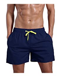 ORANSSI Surf Men's Quick Dry Swim Trunks Bathing Suit Beach Shorts