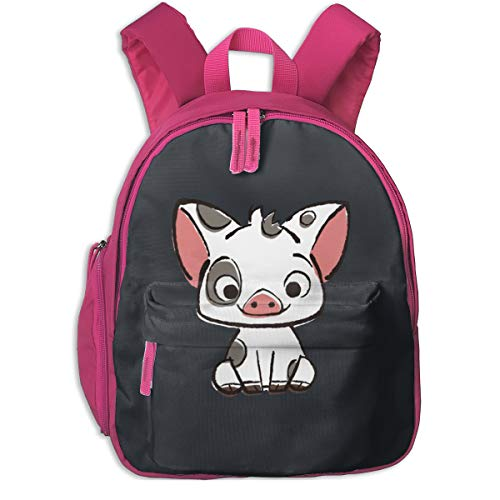 Richard Moana Pua The Pot Bellied Pig Little Kid Baby Toddler Backpack School Travel Bag With Pocket For Boys/Girls ()