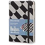 Caderno Edição Limitada, Beatles, Preto Fish, Capa Dura, Pautado, Tamanho Bolso