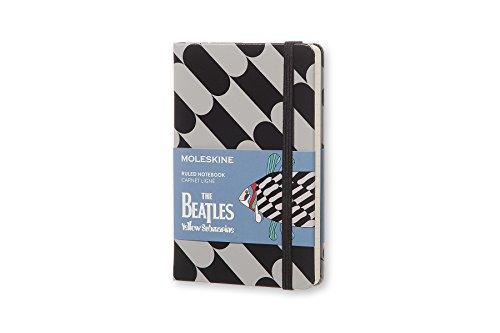Moleskine The Beatles Limited Edition Notebook, Pocket Ruled, Black - Fish (8055002851565)