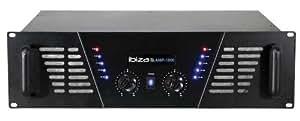 Ibiza Sound AMP1000 - Amplificador de audio (800 W, 6.35mm, 48 cm, 37 cm, 14 cm)