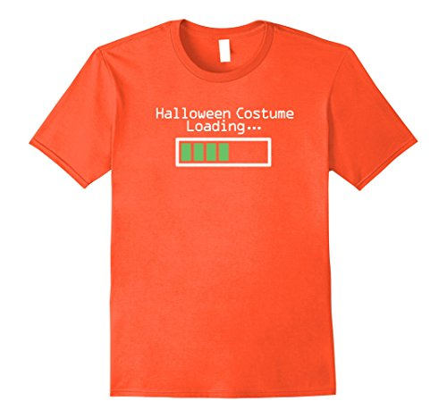 [Mens Costume Loading Programmer Halloween Costumes Shirt XL Orange] (The Office Halloween Costumes 2017)