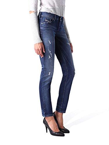 stretch dtente Francy femmes pantalon Zen Bleu et jeans 0844M Skinny Diesel txPqf6w