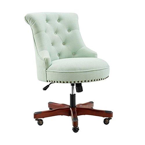 Linon Sinclair Mint Green Office Chair