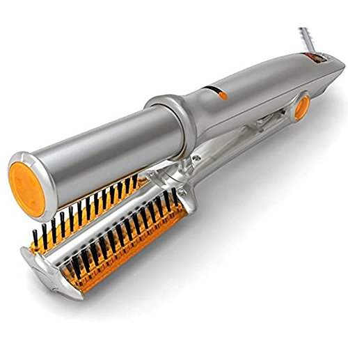 Wgwioo Curler Salon Hair Straightener Wave Machine Ceramic Heat Silver Titanium Rotating Iron (Rotating Hair Straightener)