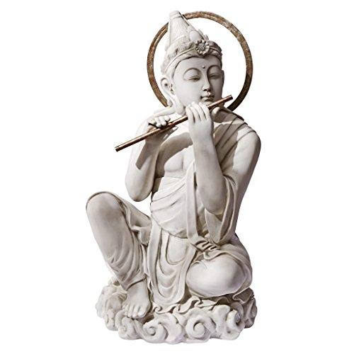 Design Toscano KY47116 Byodo-in Temple Bodhisattva Garden Statue, Antique Stone