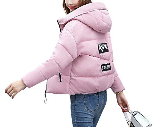 Black Winter Jacket Women Cotton Short Jacket Padded Slim Hooded Warm Parkas Coat Female Autumn Outerwear