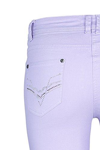 Linda X Capri Million Strass Femme Lilas Jeans wqd0IS