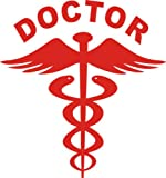 Fusion 2 Nos Reflective Red Doctor Decal / Sticker For Any Car