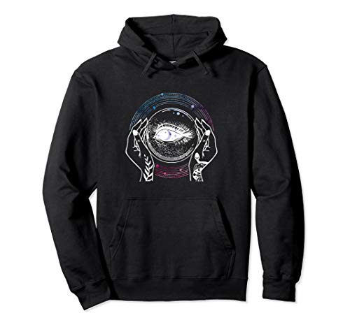 Psychic Crystal Ball Mystic Fortune Teller Halloween Costume Pullover Hoodie