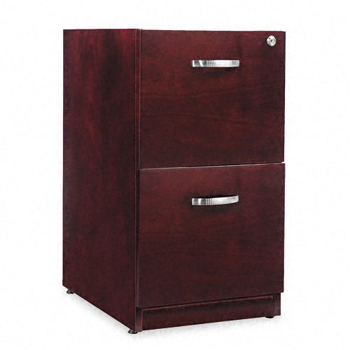Alera RN521629MM Verona Veneer Series 16 by 22 by 28-Inch 2-Drawer Pedestal File, Mahogany