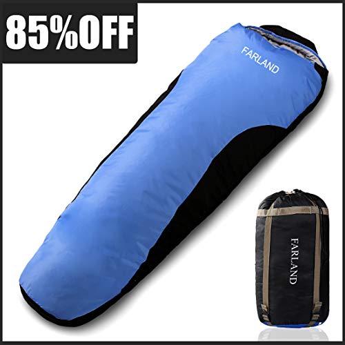 FARLAND Camping Sleeping Bag Adult 20 Degrees 4 Season EnvelopeMummy Outdoor Lightweight Portable Waterproof Perfect Traveling,Hiking Activities