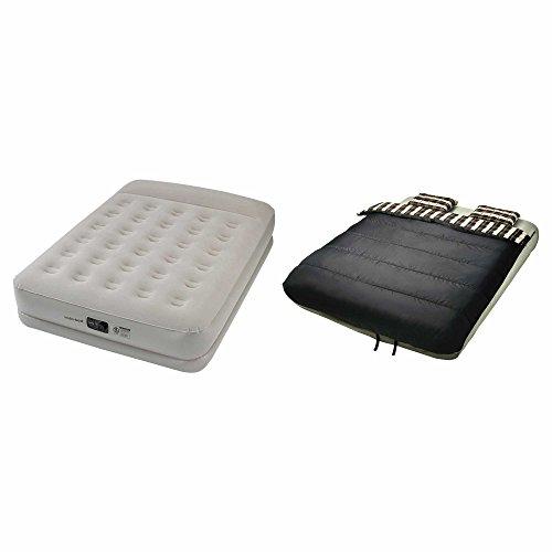 Insta-Bed 20-Inch Queen Pillow Rest Air Mattress with Pump a