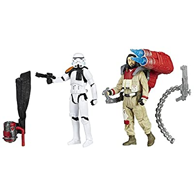 Star Wars B7260AS0 Rogue One Baze Malbus VS. Imperial Stormtrooper, 3.75-Inches: Toys & Games