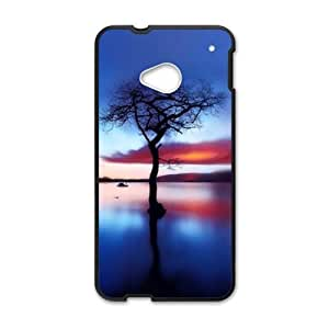 Personalized Creative Cell Phone Case For HTC M7,glam blue sky and the river tree