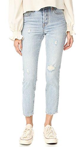 Levi's Women's Wedgie Icon Selvedge Jeans, Desert Delta, 28