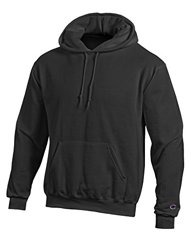 Champion Double Dry Hooded Jacket - Champion Double Dry Action Fleece Pullover Hood (S790) Black, XL