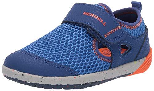 Merrell Edge Womens - Merrell Boys' Bare Steps H20 Water Shoe Blue/Orange 10 Wide US Toddler