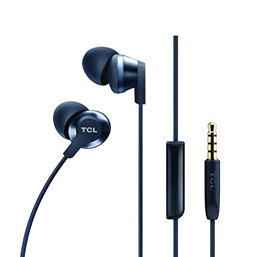 TCL ELIT200 In-Ear Earbud Noise Isolating Wired Headphones with Built-in Mic - Midnight Blue