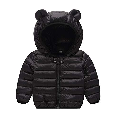 JIEEN Baby Boys Girls Lightweight Warm Down Cotton Coat for Age 0-3 Years Old (M, (Boys Lightweight Hooded Jacket)