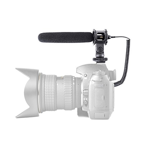 Pyle PMKSF32 Video/Camera Condenser Shotgun Microphone with 3.5mm Connector