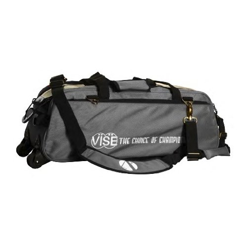 Vise Three Ball Tote Roller Bowling Bag, Grey by Vise