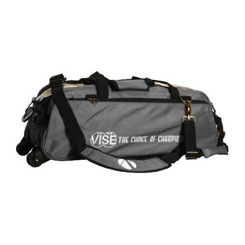 Vise Three Ball Tote Roller Bowling Bag, Grey