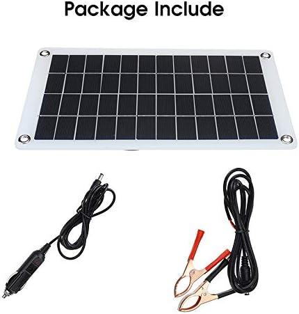 Zhang 30W Solar Panel Semiflexible Monokristalline Solarzellen-Modul DC Für Auto-Yacht-Licht RV 12V Batterie Boot 5V Außen Ladegerät