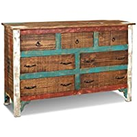 Crafters & Weavers Distressed Solid Wood Painted Dresser