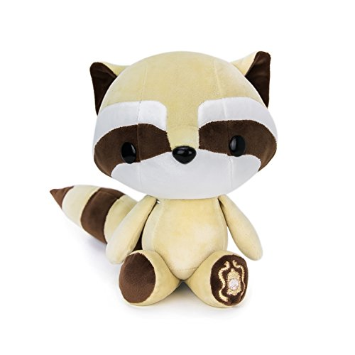 Bellzi Brown Raccoon Stuffed Animal Plush Toy - Adorable Plushie Toys and Gifts! - Cooni