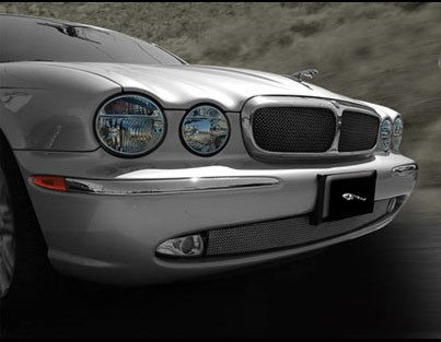 Mesh Grille PKG Upper Insert and Lower Bumper Mesh for Jaguar X350 XJ8 XJR 2004-2007 Bright Stainless or -