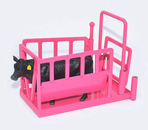 (Little Buster Toys Cattle Squeeze Chute in Pink, 1/16th Scale)