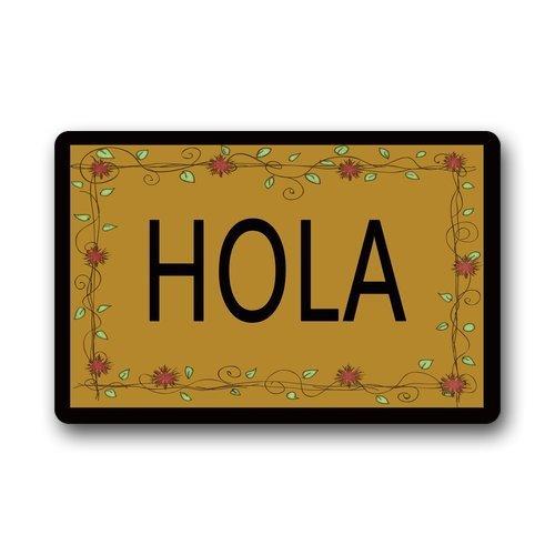 Fimaliy Custom Evergreen Fashion Hola Picture Print Machine Washable Doormat Gate Pad Rug U6527910 23.6 x 15.8 -