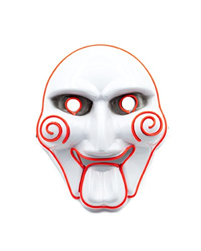 Emazing Lights Scary Jigsaw Saw Light Up Adult Mask (Red)