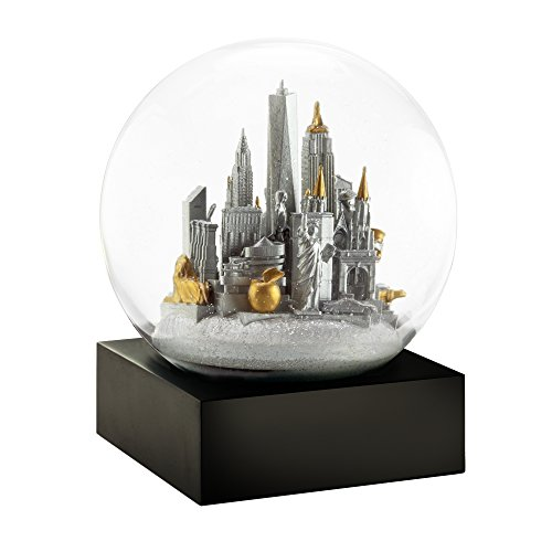 CoolSnowGlobes NYC New York City Silver Chillingly Beautiful Glass Snow Globe