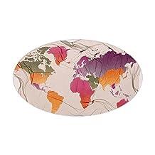 CafePress - World Map - Oval Bumper Sticker Car Decal