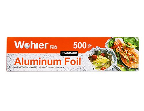 - Wohler Durable Kitchen Aluminum Foil Roll, 500 Sq Ft