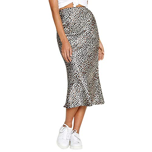 Fashion Womens Sexy England Leopard Printed Split Bandage Evening Party ()