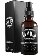"""GANADOR 2020* ● Aceite para barba """"ORIGINAL"""" de Camden Barbershop Company ● cuidado de la barba completamente natural ● refrescante y suavizante ● 50 ml"""
