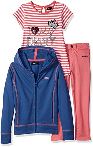 DKNY Girls 3 Piece Im So Fancy T-Shirt, Hoodie, and Pant Set