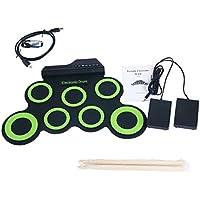 YaeTek Electronic Roll up Drum Set, 7 Pad Portable...