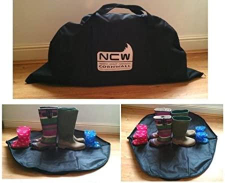 KEEP YOUR CAR TIDY AND CLEAN! EXTRA POCKETS ON THE OUTSIDE WALKING BOOT BAG