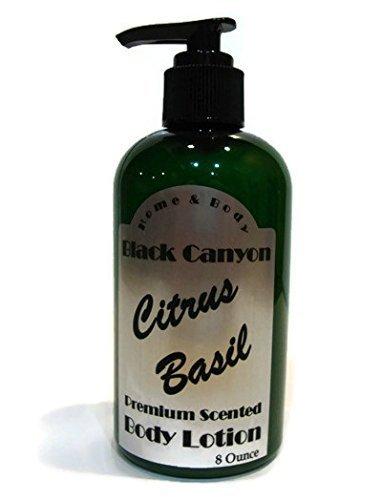 Black Canyon Citrus Basil Body Lotion, 8 oz (Fresh Basil Body Lotion)