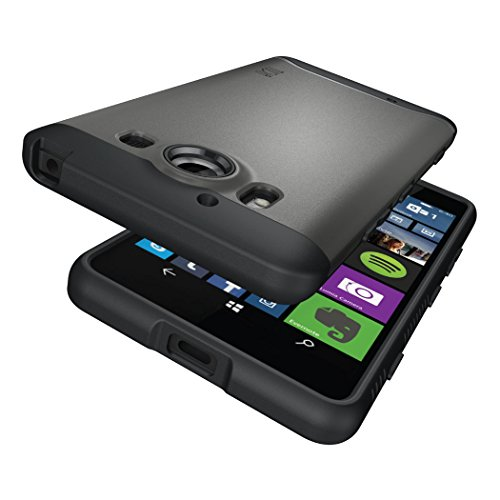 Microsoft Lumia 950 Funda, Caja protectora TUDIA Slim-Fit MERGE de doble capa para Microsoft Lumia 950 (Negro Mate) Grafito